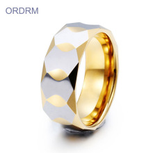 Muka Dua Tone Tungsten Mens Wedding Band