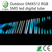 Outdoor DMX512 RGB SMD levou o tubo digital