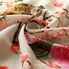 Polyester Printing Stretch Chiffon Fabric for Garments