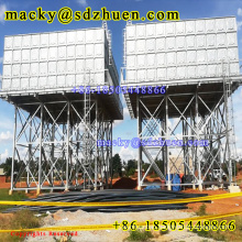 High Quality Galvanized Steel Overhead sectional SMC Water Tank with 15m height