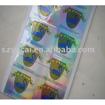 high quality customized colorful laser sticker