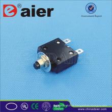 Disjuntor de Daier ST-2A 5 ~ 50A 125VAC / 250VAC / 32VDC, tipo preto de alumínio disjuntor diminuto /