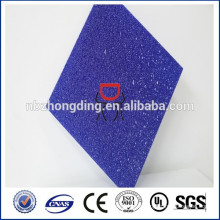 clear/green/blue/bronze diamond pc panel glass embossed polycarbonate sheet