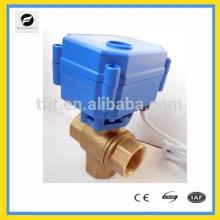 CWX15Q 3 voies vanne à boisseau automatique électrique DN12 DN20 DN25 pour l'équipement de l'eau, petit équipement pour le contrôle automatique