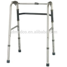 Aluminum frame folding walker with adjustble buttons K001