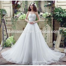 Sexy deep v-neck laced mermaid train backless wedding dress import from china