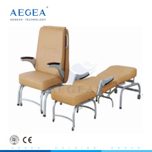 AG-AC005 stainless steel medical accompany folding furniture hospital chairs for patients