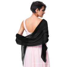 "Kate Kasin Stock 72*18"" Scarf Wrap Neckerchief Scarves Chiffon Bridal Evening Dress Shawls KK000229-8"