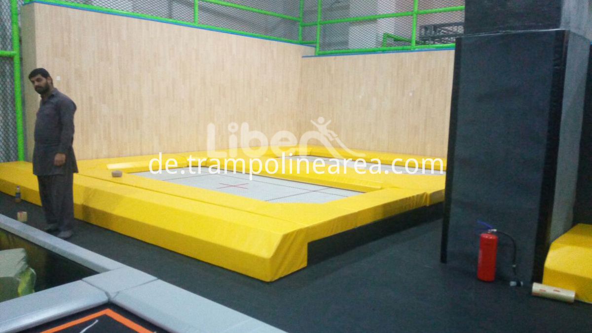 large trampoline park indoor