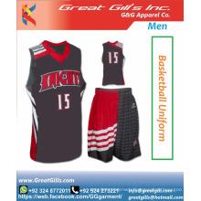 Fashionable Sublimation basketball jersey uniform design