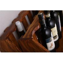Botellero de madera de olivo