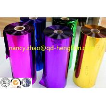 Bunte metallisierte PVC-Folie für die Herstellung von Weihnachtsdekoration