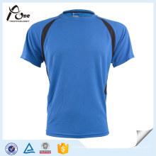 Mens-Kurzarm-laufendes Abnutzungs-kühles trockenes Sport-T-Shirt