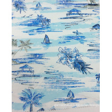Linen/ Viscose Printed Fabric for Garment& Home Textiles