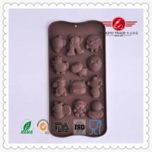 Lustige Tierform-Silikon-Schokoladen-Kuchen-Form