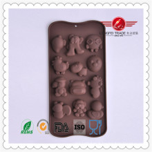 Moule drôle de gâteau de chocolat de forme animale de silicone