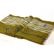Manera impresa lana pashmina mantón
