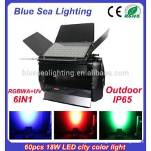 60шт x 18w rgbwa uv 6in1 наружные светодиодные огни стены стиральная машина