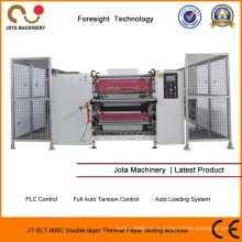 Rembobineur de papier thermique de PLC de rebobineuse