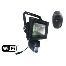reflector de seguridad con cámara oculta inalámbrica wifi integrada en sensor de movimiento pir