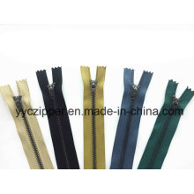 4# Anti-Brass Close End Metal Zipper for Pants