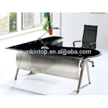 L shape glass executive desks for office used