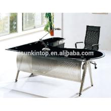 Mesas executivas em forma de vidro para escritório usadas