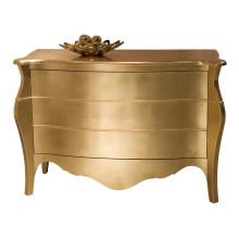 Gabinete de la consola de la hoja de oro del hotel