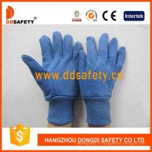 Синие хлопчатобумажные перчатки с мини-точками на пальце Dcd309