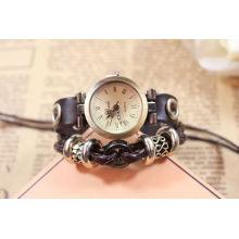 Relógio de quartzo de couro genuíno