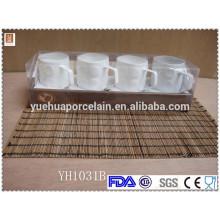 Weißer keramischer Kaffeeförderungsbecher für Verkauf