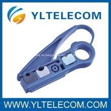 Geringes Gewicht Koaxialkabel Stripperin 2 klingen Hardware Networking-Tools