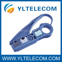 Peso leve Cabo Coaxial Stripper 2 lâminas Hardware Networking ferramentas