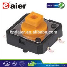 Daier KFC-012-7.3B 12 * 12 * 7,3 botão quadrado cabeça laranja SMT interruptor tátil
