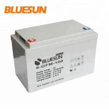 Bluesun batería de gel de almacenamiento de energía solar de alta eficiencia de larga duración y larga vida útil 12v 100Ah 150Ah 200Ah