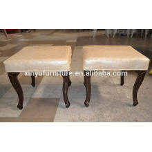 Hotel wooden carved stool ottoman XYN29