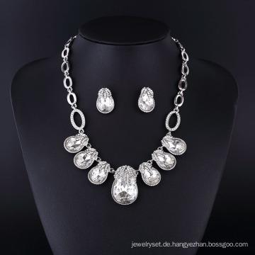 2015 Gnade Stil Kristall Strass Schmuck Halskette Set für Frauen
