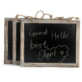 Vintage Framed hanging Kitchen Chalkboard 3.8*9.5 inch Decorative Chalk Board for Rustic Wedding Signs