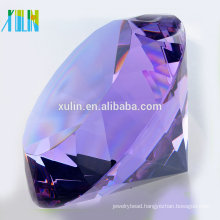 custom crystal souvenir gift purple crystal diamond for wedding souvenirs