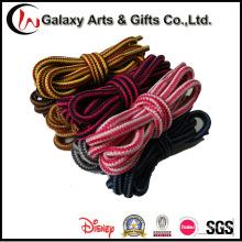 Cordón de dos tonos redondo caliente de la bota del poliéster del 120cm para el adulto