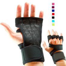 Women's Men's Weight Lifting Gloves with Wrist Wrap for WOD Gym Workout Cross Training Fitness 5 colors Size S-XL