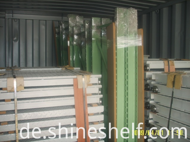 Mold Storage Racks Loaded in Container