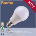 A60 de poupança de energia 9W E27 bulbo do diodo emissor, alumínio led bulbo luz habitação