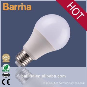 A60 экономии энергии 9W E27 светодиодные лампы, алюминиевые Светодиодные света лампы жилье