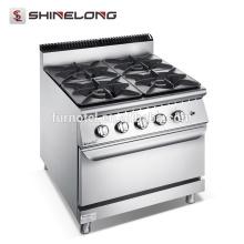 F9080GGR Qualitätsgarantie-Fachmann 4 Brenner-Gaskocher mit Ofen-Reihen-Ofen