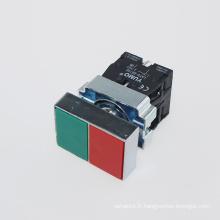 Yumo Lay5-Bl8325 IP40 220V double interrupteur à bouton-poussoir à basse tension