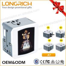 Wholesale adapter plug to Uk/us/au/us multi function USB port universal adapter