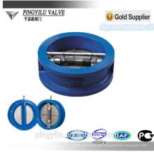 Válvula de retenção de mola de borracha wafer de ferro dupla de 10 polegadas