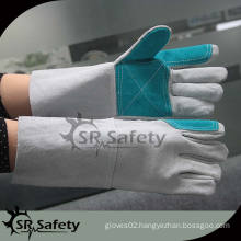 SRSAFETY working full leather gloves in china