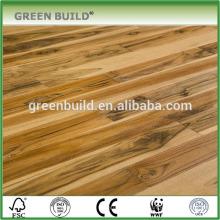 Suelo de madera natural de la teca brasileña del tratamiento plano natural